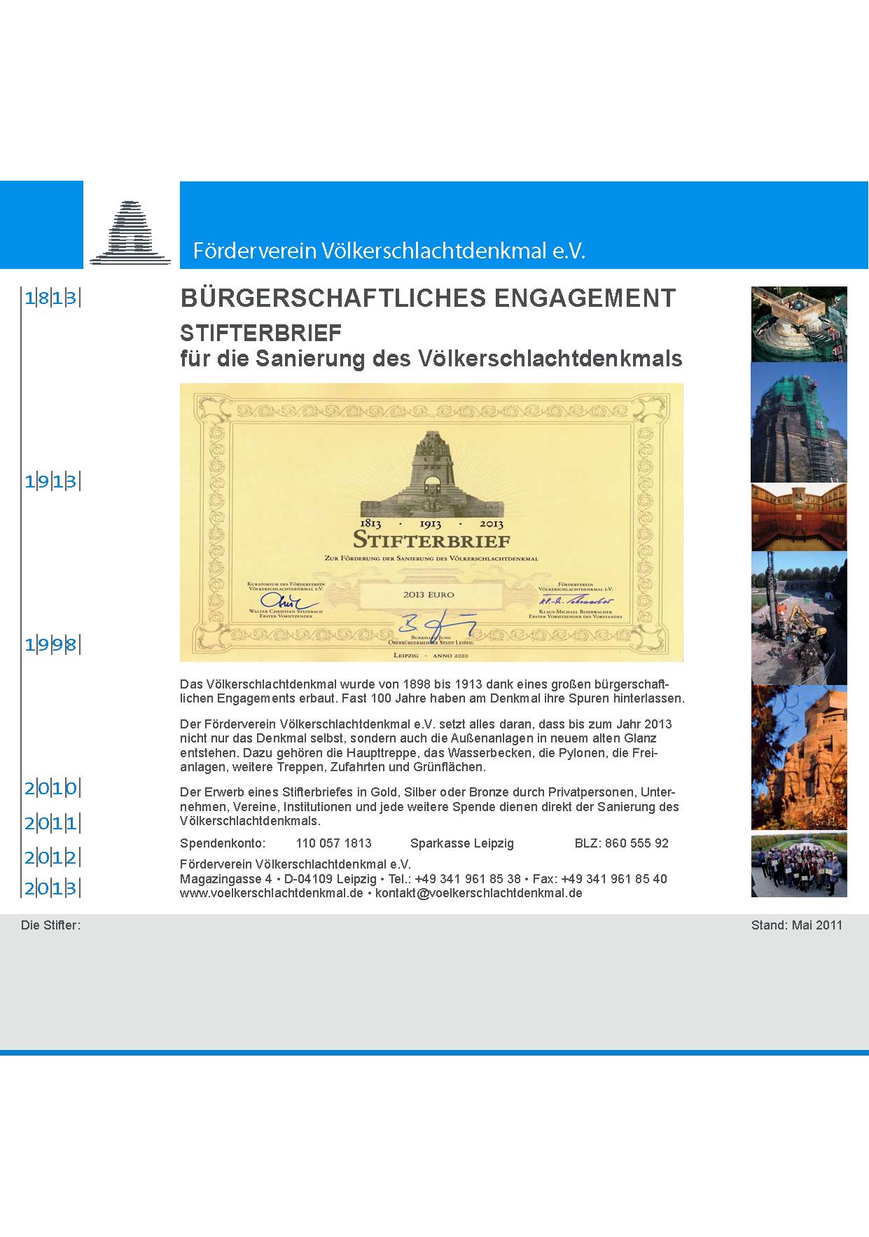 Förderverein Völkerschlachtdenkmal e.V. - Einweihung der ...
